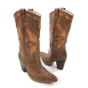 Frye Phoenix Butterfly Cowgirl Western Boots